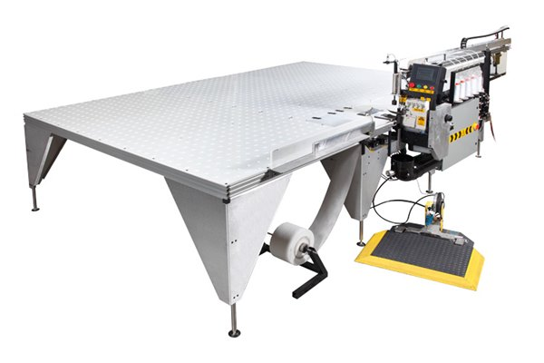 EFS100 Automated Serger Flanger Workstation